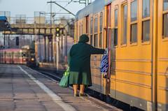 odjazd (PanMajster) Tags: odjazd departure old granny train bokeh 135mm 28 tair tair1a pentax k5 poland polska tarnowskie góry tg silesia śląsk