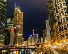 The Chicago River . . . (Dr. Farnsworth) Tags: lasalle bridge east marina tower trump water reflection chicago il illinois spring april2018 goldenaward discoveryaward nationalgeographic ngc