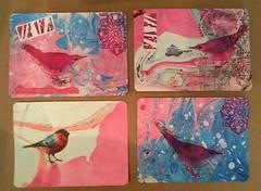 "IHanna DIY Postcard Swap Spring 2018 (MKP-0508) Tags: ""mailart"" ihanna postcardswap papier paper marmorierpapier collage diypostcardswap dominopaper swap aufpapier vogel bird oiseau handmade"