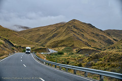 Driving on the Crown Range road (Tatters ✾) Tags: newzealand nz road driving hills car