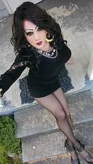 Basic Black... (therealdavinawayne74) Tags: crossdresser crossdressing crossdress crossdressed boi boytogirl blacktights blackpantyhose highheels hosiery heels pantyhose platformheels strappyheels stilettoheels tights transvestite tgirl tranny trans nylons nylonfetish nylon minidress makeup m2f maletofemale dragqueen dragmakeup davinawayne feminized femme