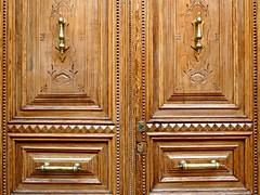 Wood Doors (Colorado Sands on autumn break) Tags: door doubledoors madrid spain sandraleidholdt spanish europe wood wooden doorhandle carved