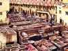 dyeing factory (Guy Goetzinger) Tags: factory dye dyeing mill works färberei goetzinger colors maroc morocco fés worker nikon p900 souk bazar basar