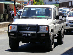 Number Plate from Vanuatu (CooverInAus) Tags: port shefa vanuatu number license registration motor vehicle automobile plate toyota landcruiser pickup truck vila