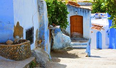 Blue house with  red door (maios) Tags: bluehousewithreddoor blue house red door chefchaouen morocco maios africa nikond7100 nikon d7100