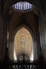Ely Cathedral: lantern and nave from Choir (EC1London) Tags: architecture cathedral ely gothic paintedceiling wooden lantern screen preraphaelite
