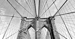 brooklyn bridge (poludziber1) Tags: nyc ny newyork usa america brooklyn bridge black white blackandwhite manhattan abstract skyline