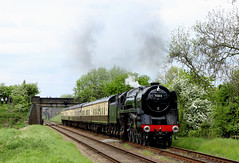 70013 Oliver Cromwell - Woodthorpe (Andrew Edkins) Tags: 70013 olivercromwell greatcentralrailway preservedrailway railwayphotography woodthorpe leicestershire england uksteam geotagged canon light travel trip britanniaclass steamtrain goodsgaloregala may 2018 summer