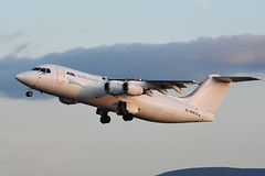 EC-MCK Bae146-300QT EGPH 14-05-18 (MarkP51) Tags: ecmck bae146300qt bae146 aslairlinesspain aslairlines pv pnr cargo freighter edinburgh airport edi egph scotland aviation aircraft airplane plane image markp51 sunshine sunny nikon d7200 aviationphotography