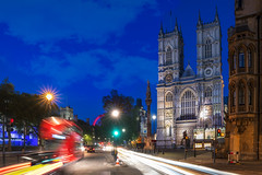 Westminster Nights (JH Images.co.uk) Tags: london traffic road westminsterabbey westminster night sky bus clouds lighttrails trails hdr dri church abbey