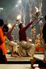 Ganga Aarti at Varanasi (pallab seth) Tags: gangaaarti evening prayer people culture tradition religion religious indian life spiritual varanasi banaras benaras india asia belief traditional hindu hinduism tour tourism tourist dusk puja offerings