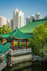 Wong Tai Sin Temple (Daniel Zwierzchowski) Tags: sonyalpha sony a7rii a7rmk2 sel24105g mirrorless architecture landscape cityscape hongkong china asia temple religion outdoor travel travelling park trees building skyscrapers