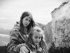 My daughters (gwelr) Tags: 2017 alicejulia blackandwhite c43h darktable flickr gwelr monochrome people portrait alice julia