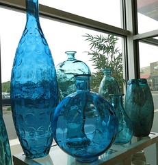 Saturday Colours - Glass (Pushapoze (NMP)) Tags: glass blue diffshapes vase