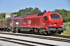 TAKARGO 6001 (Andreu Anguera) Tags: ferrocarril tren locomotora diesel takargo serie6000 6001 euro4000 vossloh valença portugal andreuanguera