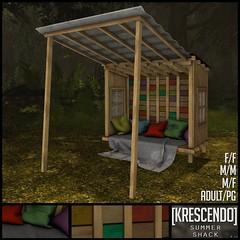 [Kres] Summer Shack ([krescendo]) Tags: whimsical secondlife sl kres krescendo summer summershack shack snuggle cosy