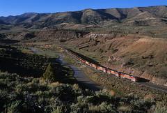 Kyune Utah Railway extra (Moffat Road) Tags: utahrailway utah coaltrain mk503 railroad locomotive kyune soldiersummit ut 5003 priceriver