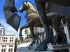 Horses of Saint Mark, Venice (GSB Photography) Tags: italy venice venezia venesia veneto roman bronze horses statue equestrian triumphalquadriga quadriga classicalantiquity stmarksbasilica sanmarco square piazzasanmarco city medieval europe european italian unesco beauty copper architecture icon iconic history historical sky nikon d60