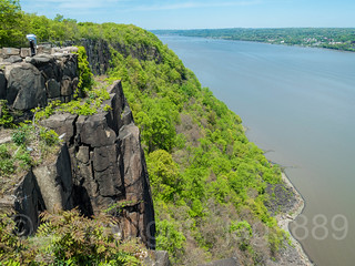 State Line Lookout on the Hudson River, Palisades Interstate Park, Alpine, New Jersey