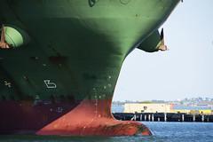 Bow Detail (PAJ880) Tags: bow xin fe zhou container ship cargo boston harbor ma marine