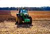 Deere Tractor (gwpics) Tags: agriculture harrow harrowing landscape england work labour environmental earth farmer farming environment tractor field uk transport labor unitedkingdom farm