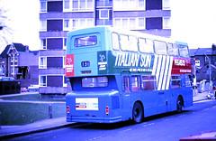 Slide 118-18 (Steve Guess) Tags: norwood junction london england gb uk regional transport tendered bus unit lrt cityrama 196 dms south yorkshire pte daimler fleetline pegasus italian sun advert