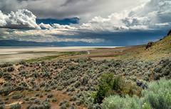 Antelope Storm (59roadking - Jim Johnston) Tags: ifttt 500px panorama storm clouds rain desert utah salt lake bed