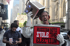 stole (greenelent) Tags: notrump protest demonstration riseandresist streets people activists nyc newyork