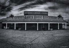 Country Diner (evanffitzer) Tags: bw diner utah food ranch iphone7 monochrome mono cowboy building outdoors blackandwhite panorama abandoned