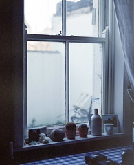 Annmount, windowsill (nikolaijan) Tags: mamiya rb67 fuji nph400 120 film expired cork corkcity ireland window windowsill