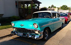 1956 Chevy (Cragin Spring) Tags: richmond richmondillinois richmondil illinois il mchenrycounty unitedstates usa unitedstatesofamerica northernillinois car vehicle 1956chevy chevy 1956 56 1956chevrolet chevrolet blue