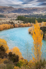 Clutha River || SOUTH ISLAND || NEW ZEALAND (rhyspope) Tags: nz new zealand wanaka queenstown clutha river autumn fall nature color colour rhys pope rhyspope canon 5d mkii poplar mountain water creek stream flow rapids sky clouds amazing travel tourist