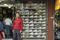 200604150070 (Loon Man Returns) Tags: red shoes sneakers shop cigarette shopkeeper sunsetpark brooklyn nyc
