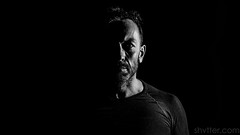 Self I (#Weybridge Photographer) Tags: adobe lightroom canon eos dslr slr 5d mk mkii self portrait studio monochrome low key high contrast black background shadow shadowy man