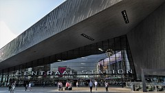 Station Rotterdam and Reflection (jo.misere) Tags: station rotterdam centraal 1819 architectuur building gebouw
