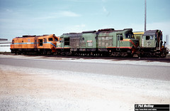 3419 X1005 XB1020 F46 Forrestfield Loco 20 January 1983 (RailWA) Tags: railwa philmelling westrail 1983 x1005 xb1020 f46 forrestfield loco