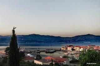 Crepuscular view at Postira