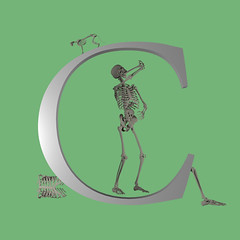 Letter C. C for Cannibalism. (khybinette) Tags: maya cgi vfx alphabet fun cannibalism letter c granbury texas