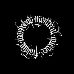 C'est le temps du workshop de Montréal! / It's time for Montreal's workshop! (Syntax One) Tags: calligraphy blackletter fraktur workshop cercle calligram gothic