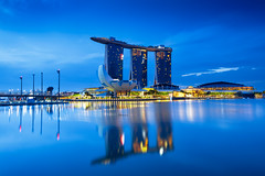 Building with reflection, Marina bay, Singapore city skyline (Patrick Foto ;)) Tags: architecture asia asian background bay building buildings business center city cityscape commercial destination district downtown dusk evening exterior famous finance financial harbor illuminated landmark landscape light marina modern morning night office panorama reflection river riverside sea singapore sky skyline skyscraper sunrise sunset tall tourism town travel twilight urban view water waterfront sg
