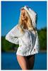 Natalie - As Blue As I Go (jfinite) Tags: model beauty fashion environmentalportraiture spring swimwear swimsuit lake blonde
