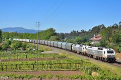 Guillarei (REGFA251013) Tags: renfe tren train comboio contendores bobinero 333300 adif guillarei tui galicia