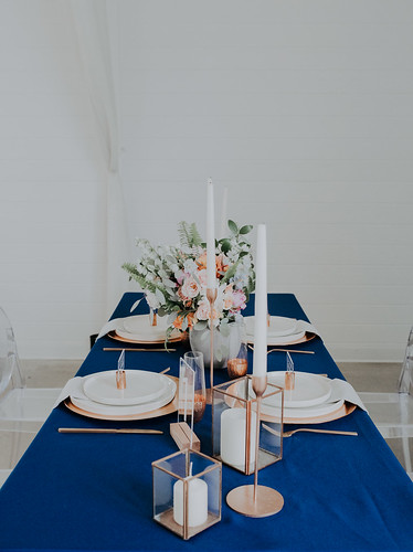 "Royal Blue and Gold Table Setting • <a style=""font-size:0.8em;"" href=""http://www.flickr.com/photos/81396050@N06/27410694897/"" target=""_blank"">View on Flickr</a>"