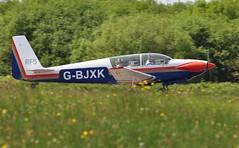 G-BJXK (goweravig) Tags: gbjxk visiting aircraft poweredsailplane motorglider swansea wales uk swanseaairport sportaviaputzer fournier rf5