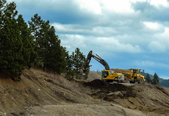Digging (Evan Nitschke) Tags: action ballshaped bucket bulldozer calamity construction machinery concructionwork dirt dust environment gravel industry machine mine outdoor outdoors outside power shovel scoop