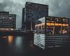 Lido Hafen (renkinjitsu) Tags: düsseldorf germany glass rhineriver restaurant nightphotography night evening