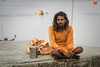 everything I own (andy_8357) Tags: everything i own hindu sadhu varanasi india orange ochre ganges ganga young man sony a6000 ilce6000 ilcenex mirrorless canon fd 50mm f14 wide open dof kind gentle purposeful portrait portraiture street photography long hair faith faithful devotion heartful choice sannyasi renunciate renunciation simple life spiritual water boat row e emount