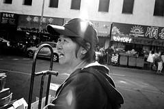 Chinatown, San Francisco 2018 (Dave Glass . foto) Tags: sanfrancisco chinatownsanfrancisco chinatownsf chinatown stocktonstreet recycle cardboardrecycling konicazup28 kodaktmy400film filmphotography 35mmfilm 35mm streetphotography blackandwhite blackandwhitefilm