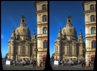 Dresdner Altstadt 3-D / CrossView / Stereoscopy / HDRaw