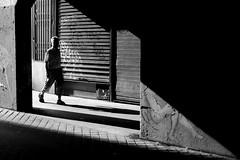 In the passageway (pascalcolin1) Tags: paris passage passageway lumière light ombre shadow photoderue streetview urbanarte noiretblanc blackandwhite photopascalcolin 50mm canon50mm canon